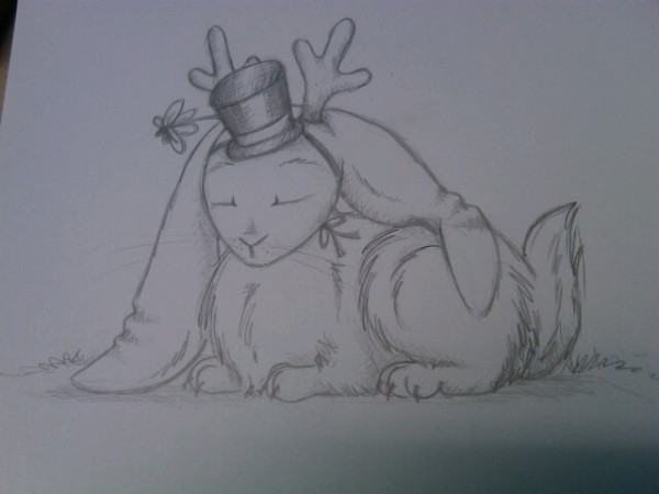 Jackalope and Hat